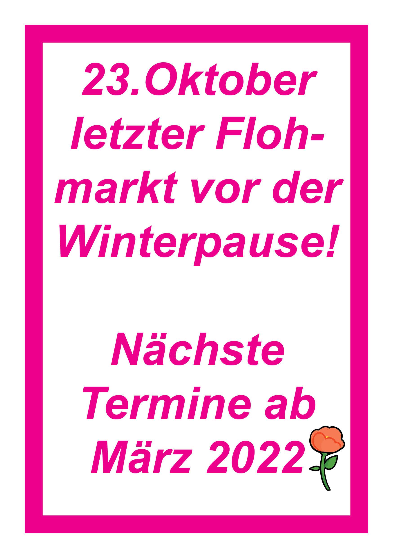 Winterpause bis März 2022